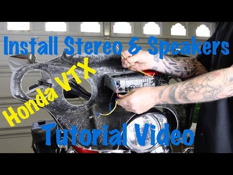 Install Aftermarket Stereo & Speakers on a Honda VTX Motorcycle With Batwing Fairing