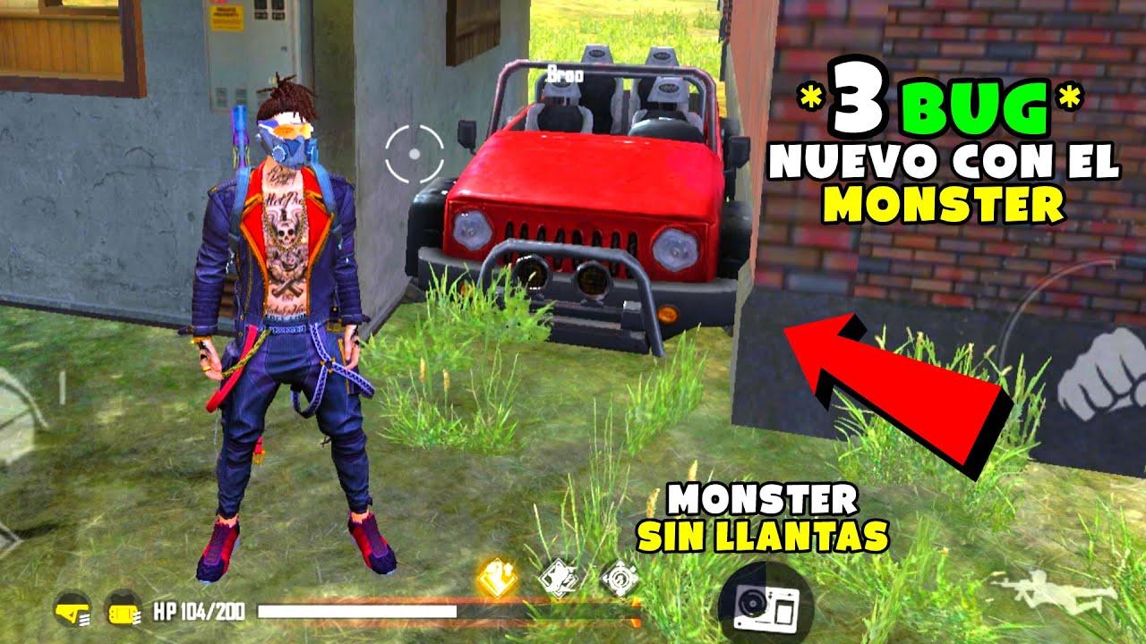3 NUEVOS BUG CON EL MONSTER EN FREE FIRE (MONSTER SIN LLANTAS) IsAac19