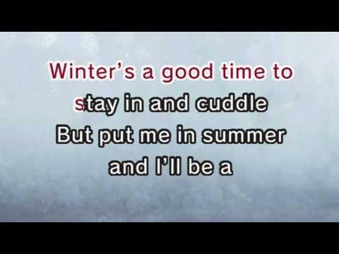 In Summer - Frozen (Karaoke and Lyric Version)