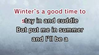 In Summer - Frozen (Karaoke and Lyric Version)