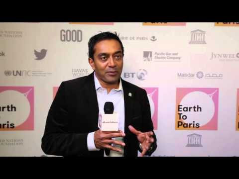 Dr. M .Sanjayan, Earth to Paris