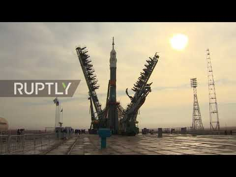 Kazakhstan: Soyuz MS-08 installed on launch pad at Baikonur cosmodrome
