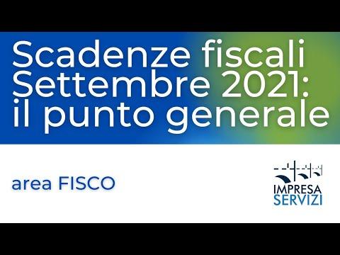 Scadenze fiscali Settembre 2021: il punto generale