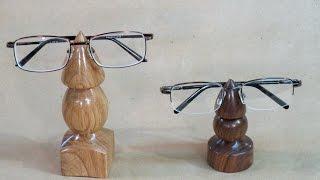 Turning An Eyeglasses Holder