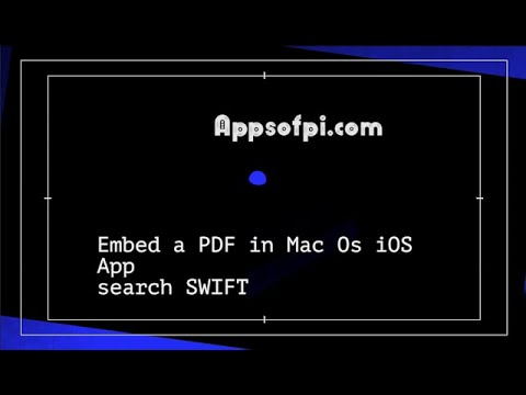 Embed PDF Ios Mac Os App PDFKit PDFView Search In The PDF