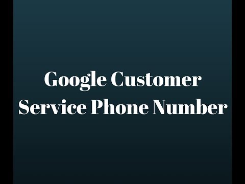 Google Customer Service Phone Number