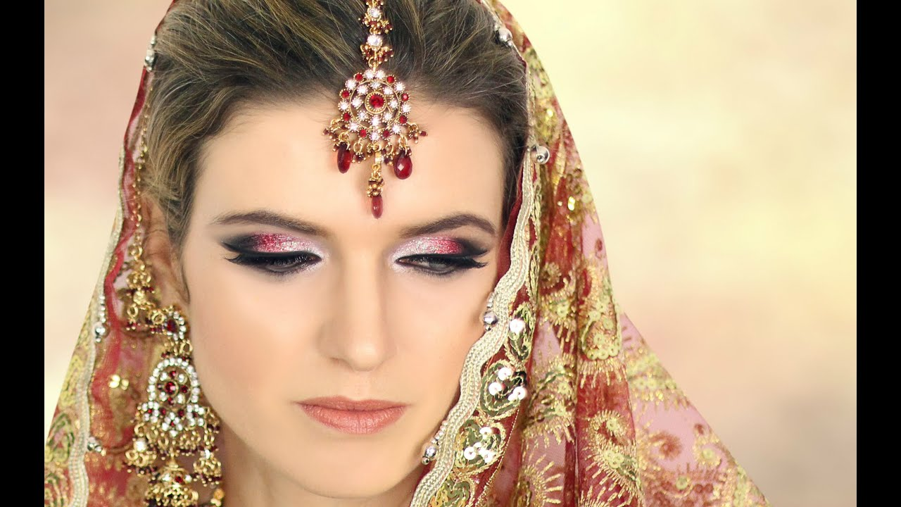 Asian Bridal Makeup London Dark Brown Hairs