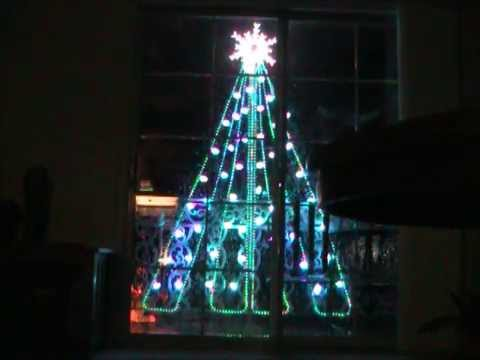 Outdoor Xmas Tree Lights Virtual two dimensional outdoor christmas tree youtube workwithnaturefo