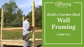 Build A Garden Shed - Wall Framing