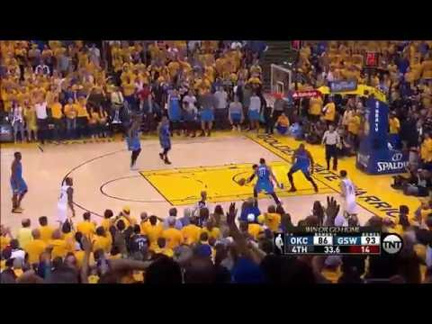 CROWD ERUPTS AFTER LATE 3 POINTER BY CURRY | GSW VS OKC GAME 7