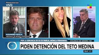 Mónica Fernández, ex pareja del Teto Medina pide su detención