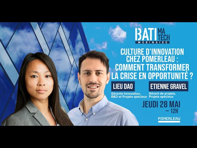 Culture d'innovation chez Pomerleau : Comment transformer la crise en opportunité?