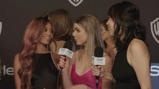 Vanessa Morgan Interview at the Golden Globes | People