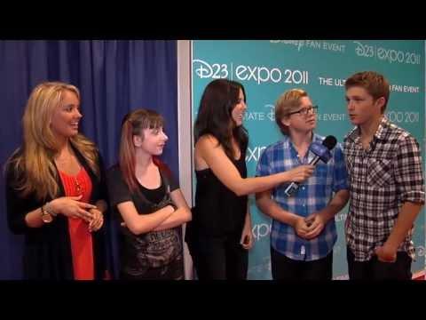 Sterling Knight, Tify Thornton, Doug Brochu, Allisyn Ashley Arm  'So Random!' D23 Expo 2011