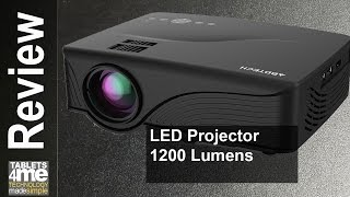 Abdtech 1200 Lumens Mini LED Multimedia Home Projector under $80.00