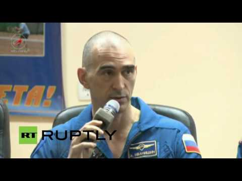 LIVE: Expedition 48 and 49 crew holds preflight press conference in Baikonur
