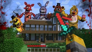 minecraft five nights at freddys mod fnaf attacks city and kills everyone minecraft