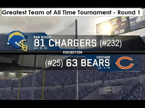 1981 San Diego Chargers vs. 1963 Chicago Bears