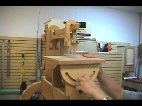 Pedal-Operated Wooden Scroll Saw