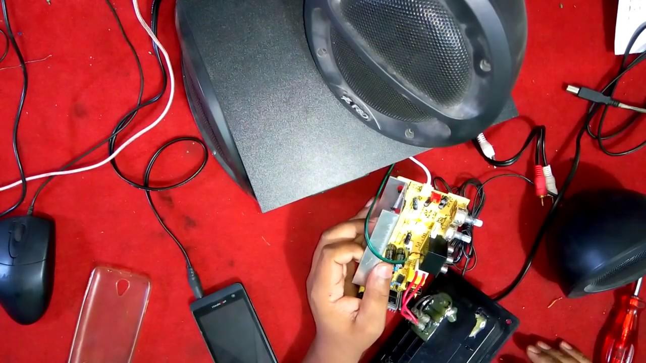f&d sound system | bass problem | f&d bass not working | sound system bass  not workings