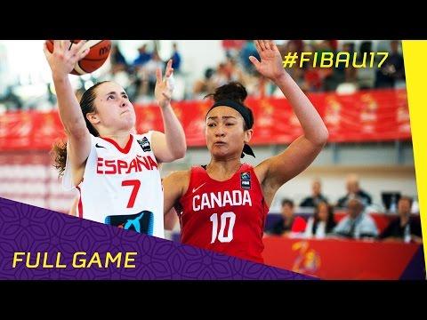 Canada v Spain - CL 5-8 - Full Game - FIBA U17 Women's World Championship 2016
