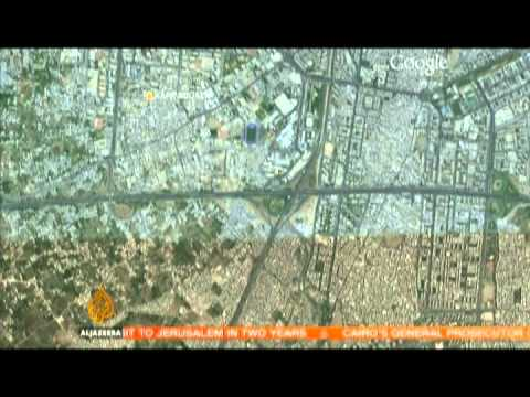 Google map of Damascus neighbourhoods where fighting rages