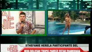 STEPHANIE HERELA PARTICIPANTE DEL MISS BOLIVIAN TROPIC PARECE ESTAR ENAMORADA