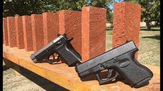 glock 26 vs bricks   9mm vs 45 acp