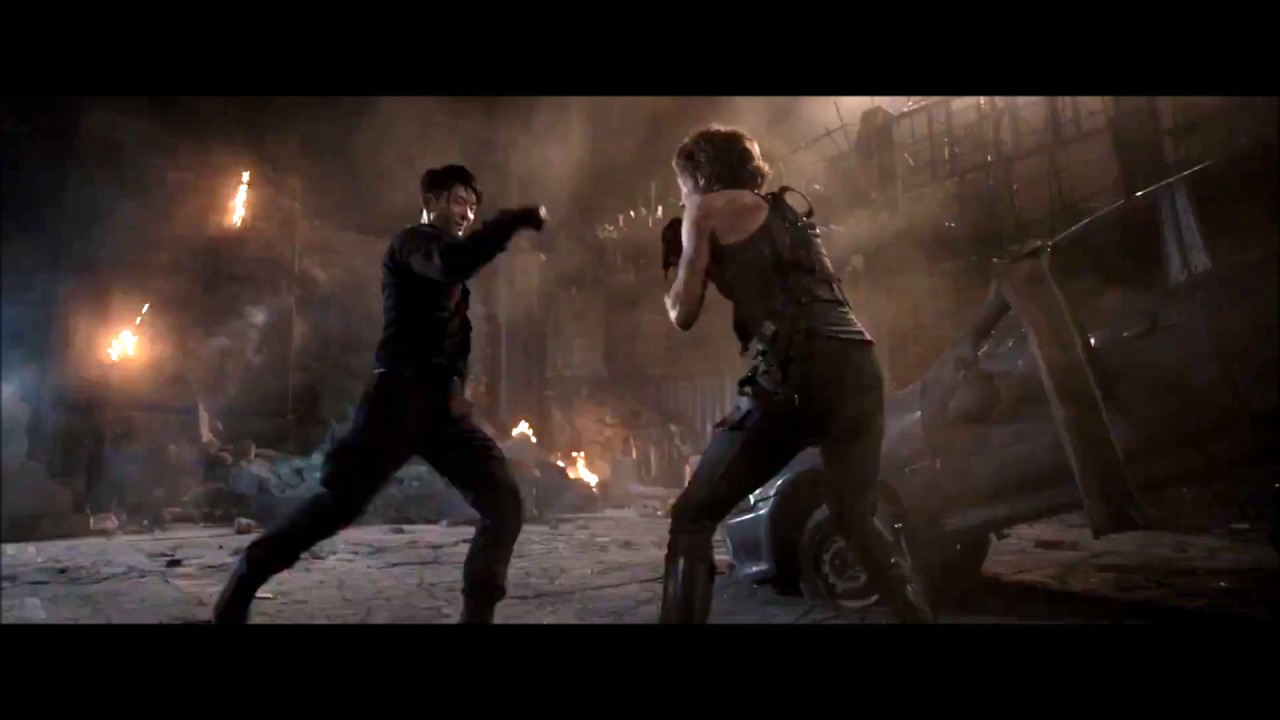 Resident Evil Lee Jong Gi Vs Milla Jovovich Youtube