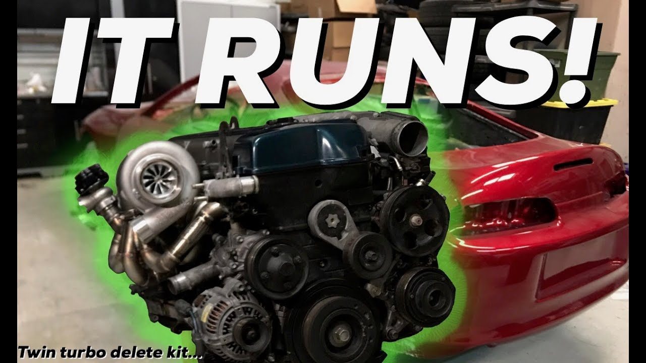 2JZGTE VVTI for the MKIV Toyota SUPRA RUNS! Wiring how to
