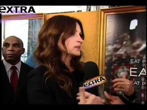 Julia Roberts, Extra!, Eat Pray Love New York Premiere