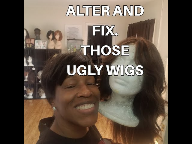 Alter and fix your synthetic Wig