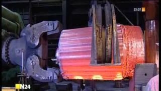 Herstellung einer Generatorwelle bei Saarschmiede GmbH, Völklingen