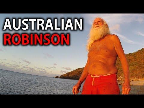 David Glasheen. Castaway for 20 years on a desert island in Australia