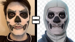 Becoming The Skull Trooper IN REAL LIFE (de fortnite)