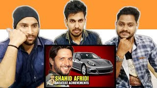 Indian Reaction On Greatest Shahid Afridi Achievements | Net Worth, Cars, Bikes | Krishna Views