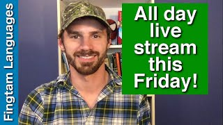 Announcement: Esperanto livestream moved to this Friday (April 5th)