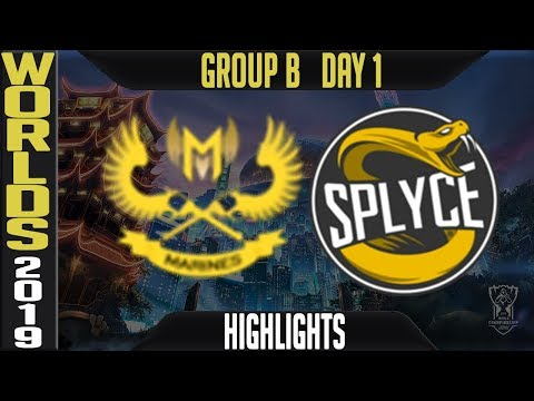 GAM vs SPY ighlights Game 1 | Worlds 2019 Group B Day 1 | Gigabyte Marines vs Splyce
