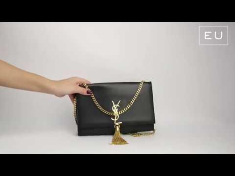 1d4b2a9d3 Bolsa Yves Saint Laurent Kate Preto   Etiqueta Única - YouTube