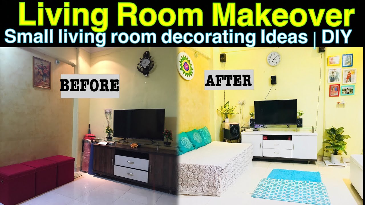 Small Living Room Decoration Ideas | DIY | Makeover Part 1 ...
