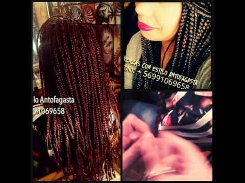 Trenzas sueltas con extensiones de pelo kanekalon - YouTube d9c992379128