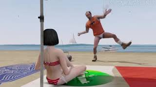 BEST SCENE GTAV TREVOR AND SEXY GIRL WTF #2