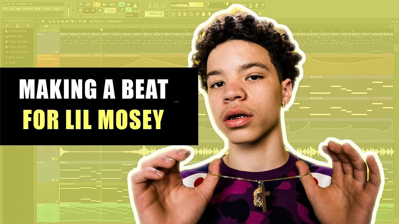 MAKING A CRAZY BEAT FOR LIL MOSEY | How To Make a Lil Mosey Type Beat (Boof  Pack)