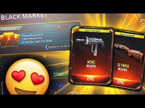 OPENING DROPS! UNLOCKING THE NEW MSMC & OLMYPIA DLC WEAPONS in BO3! TRIPLE PLAY SUPPLY DROP OPENING!
