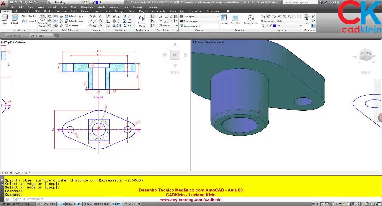 Desenho Mecanico Aula 08 Parte 02 - YouTube