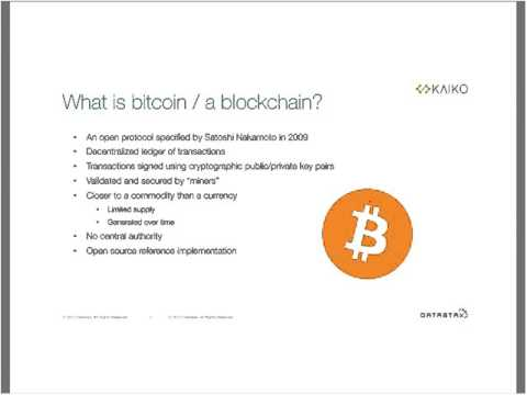 Webinar - Bitcoins and Blockchains Emerging Financial Servic