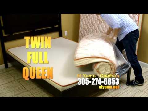 El Yuma un colchón compacto, cómodo, y duradero!