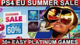 PS4 [EU] Summer Sale 2018   30+ Easy Platinum Games   Save Big on hundreds of Titles   23/08/18