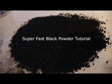 How to Make Fast Black Powder