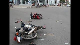 Tránh Người đi bộ sang đường xe máy gặp _ Tai nạn kinh hoàng